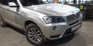 Ремонт капота и бампера BMW